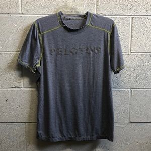 Solfire men's grayish blue SS top, sz m, 61523